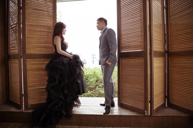 氣質黑禮服婚紗-桃園婚攝強哥