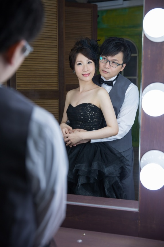 個性黑色婚紗禮服-桃園婚攝強哥