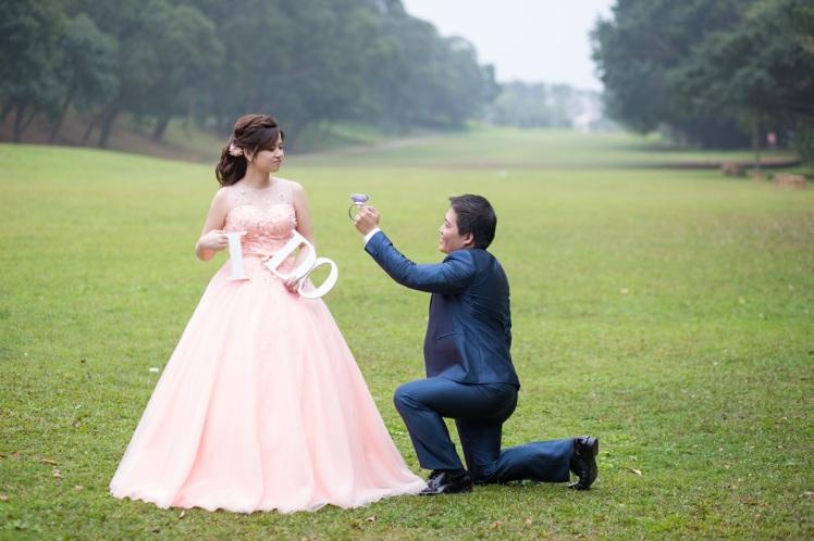 甜蜜草坪婚紗照-桃園婚攝強哥