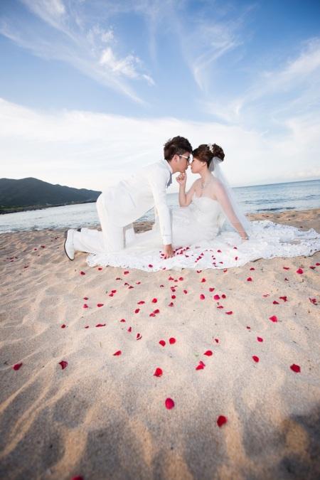 沙灘婚紗照-桃園婚攝強哥