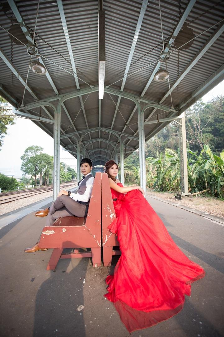 鐵路婚紗照-桃園婚攝強哥