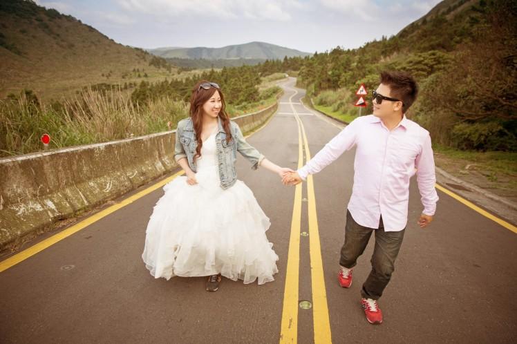 休閒公路婚紗照-桃園婚攝強哥